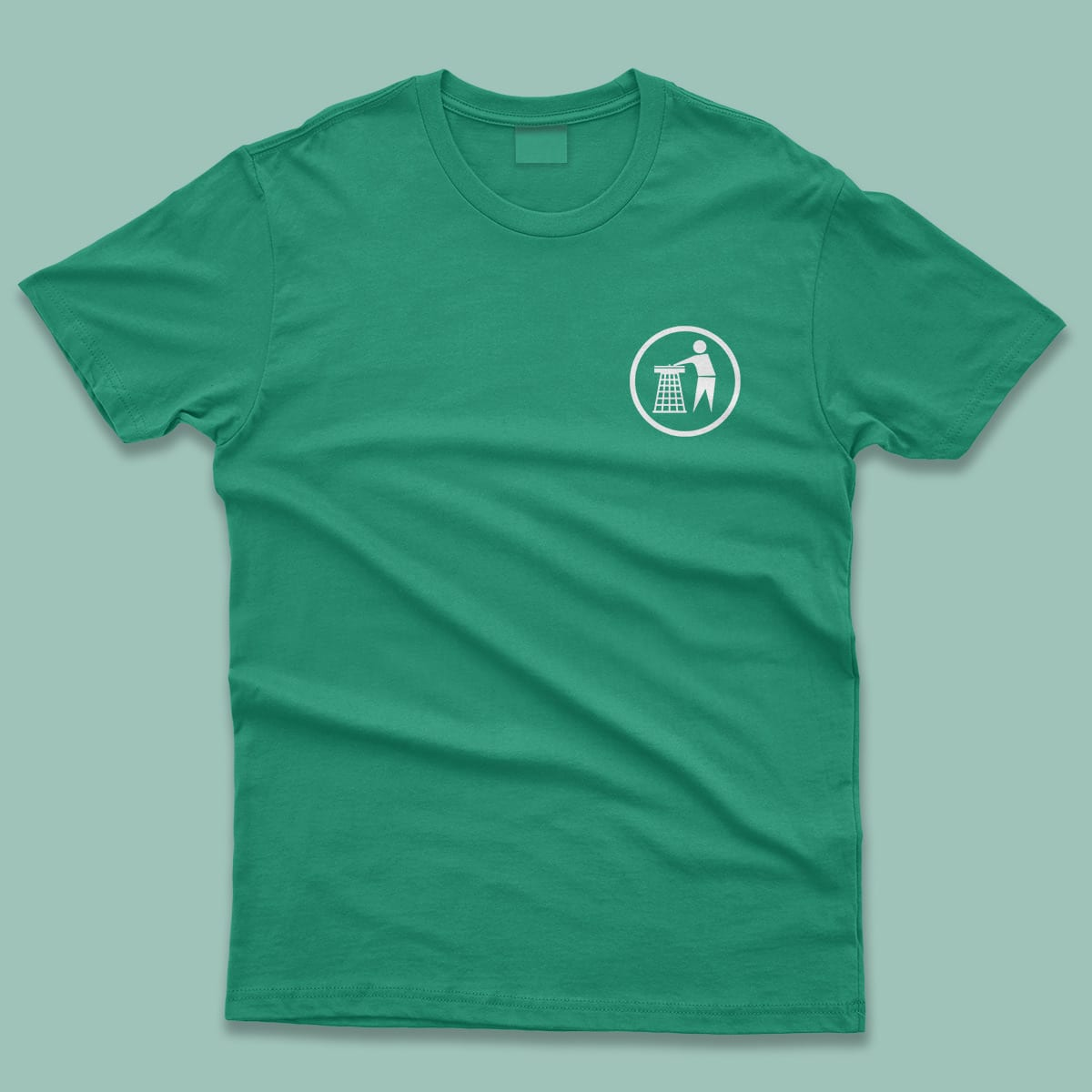 Tidy Classic Logo Mens T-Shirt Green