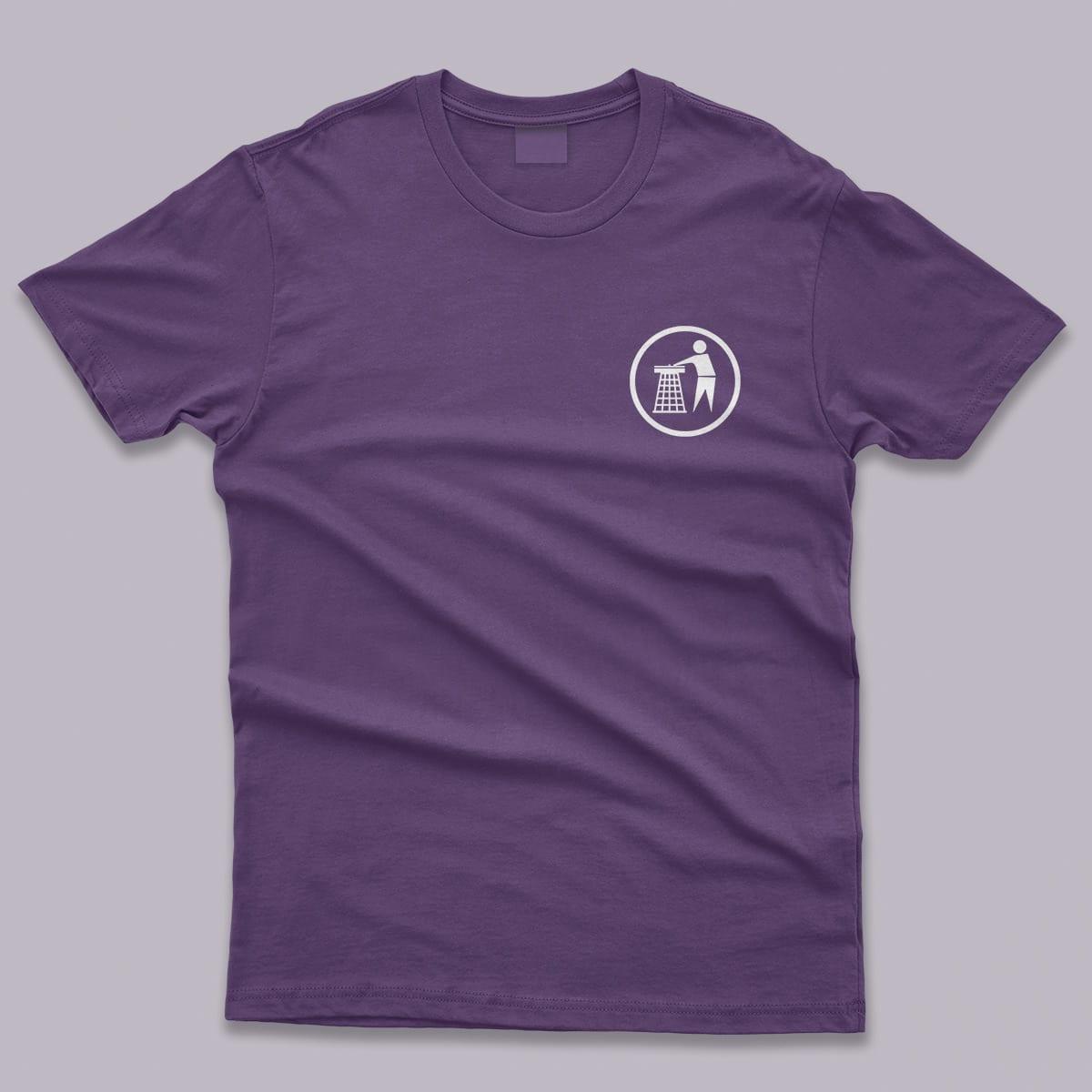 Tidy Classic Logo Mens T-Shirt Purple