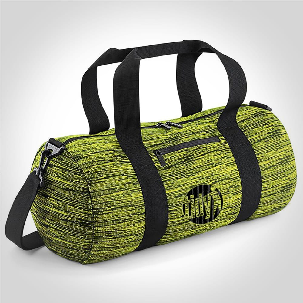 Tidy Duo Knit Barrel Bag (Electric Yellow)