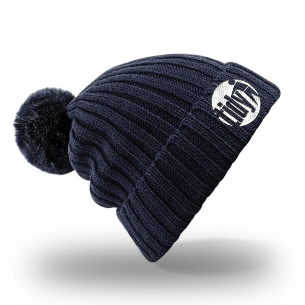 Tidy Bobble Hat Navy